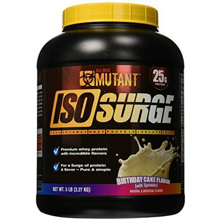 Mutant Isosurge Whey Isolate Protein Powder Birthday Cake 5 Pound