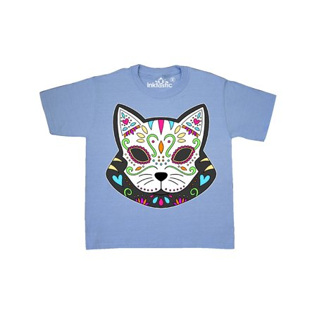 Cinco De Mayo Cat Sugar Skull Youth T-Shirt - Sugar Skull Cat