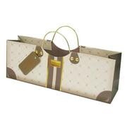 Revel Paper 3182 Mocha Wine Purse Single Bottle Paper Bag, Brown