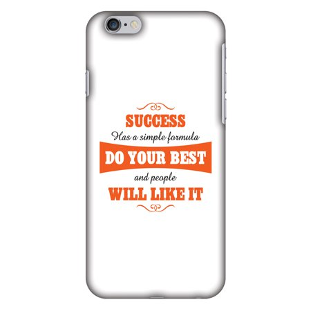 iPhone 6s Case, iPhone 6 Case - Success Do Your Best,Hard Plastic Back Cover, Slim Profile Cute Printed Designer Snap on Case with Screen Cleaning