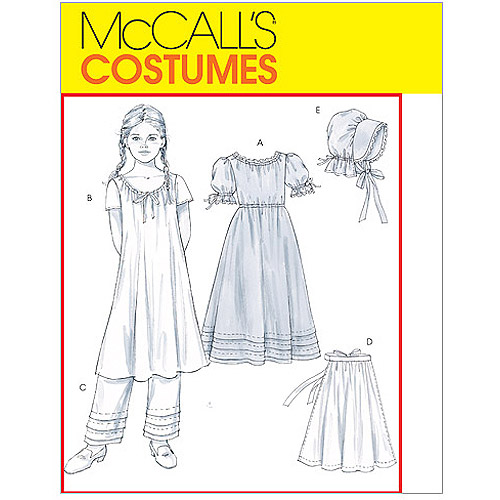 McCall's Children's and Girls' Early American Costume, Girl (7, 8, 10, 12, 14)