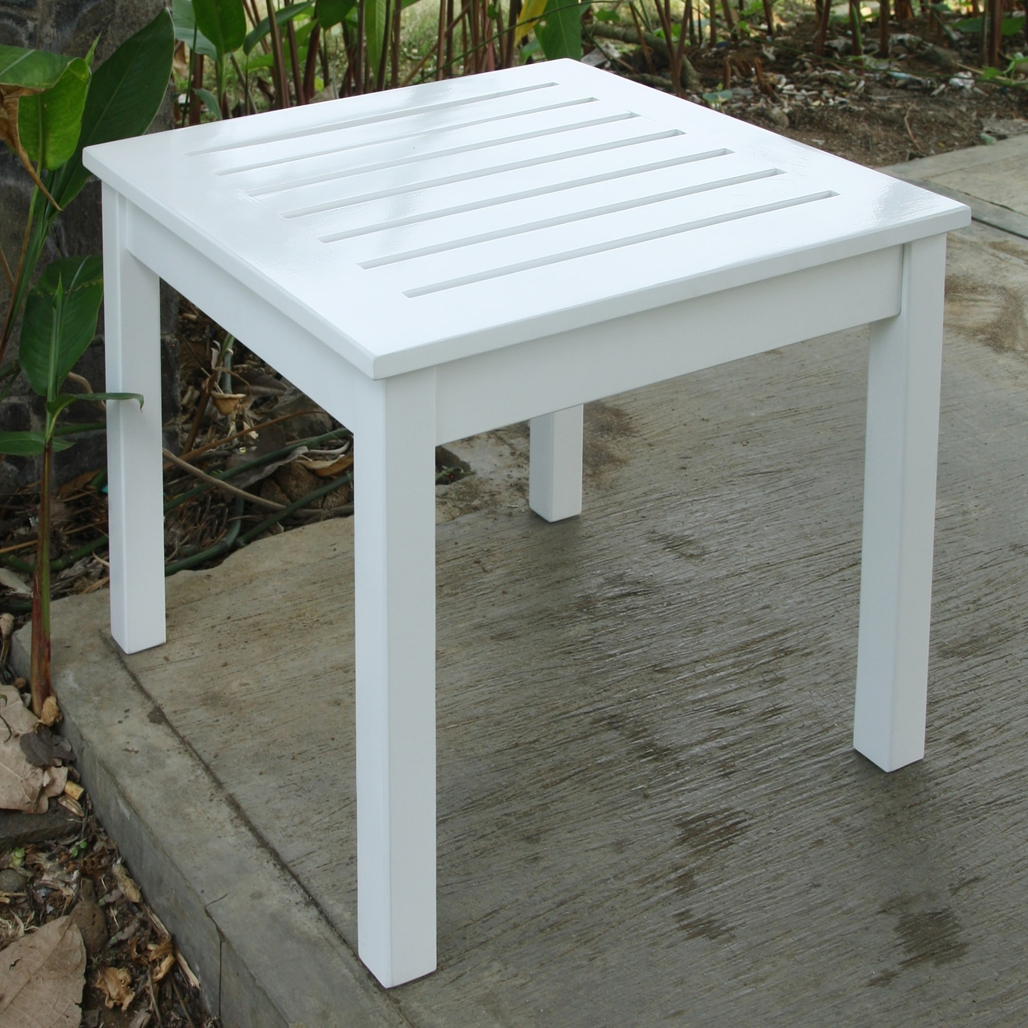 Cambridge Casual  Alston White Square Side Table