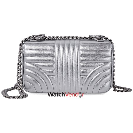 c84fd5f741cc Prada Diagramme Leather Shoulder Bag-Silver - image 1 of 3 ...