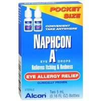 Naphcon-A Eye Allergy Relief Eye Drops, 5ml (0.16 floz), 2/case