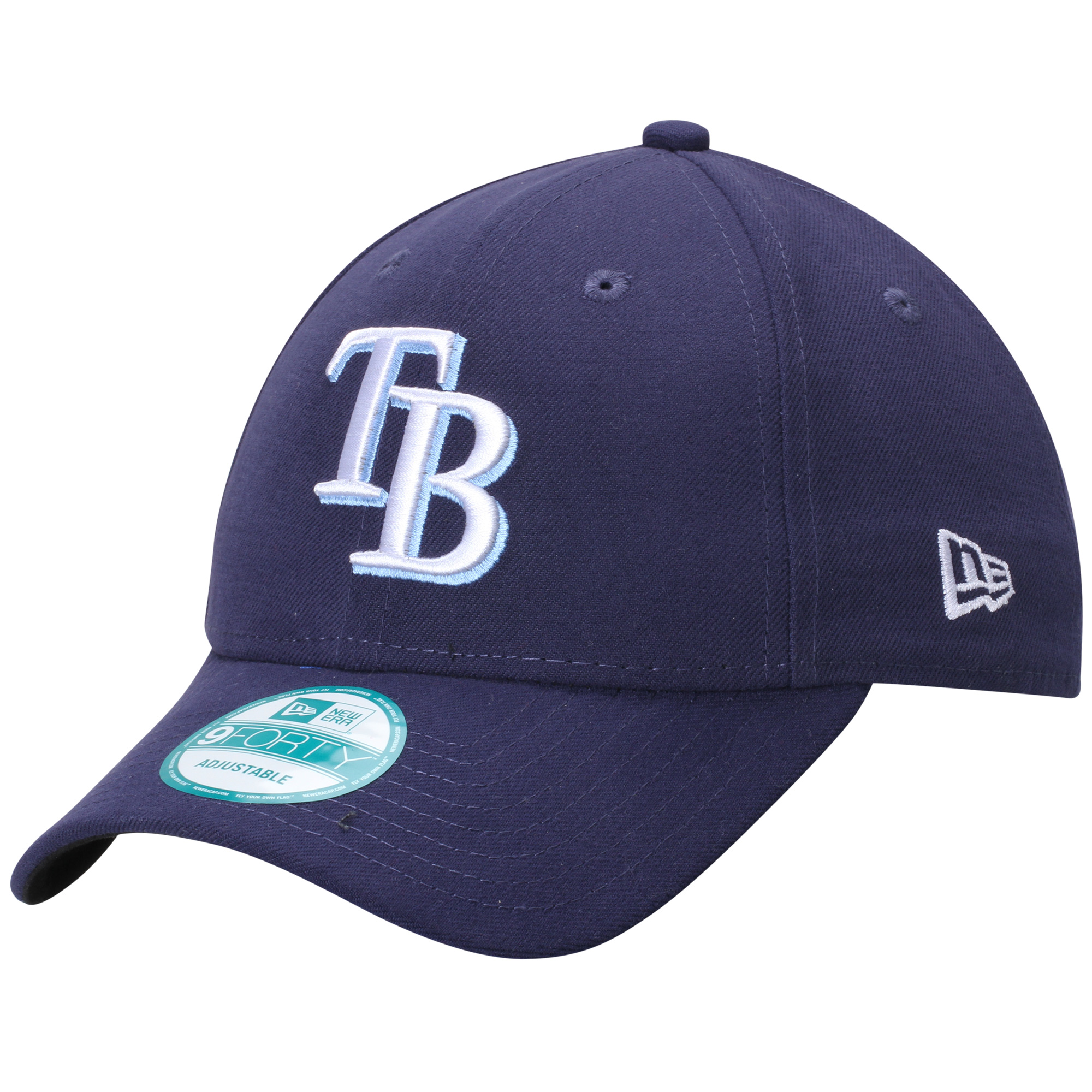 Tampa Bay Rays New Era Men's League 9Forty Adjustable Hat - Navy - OSFA