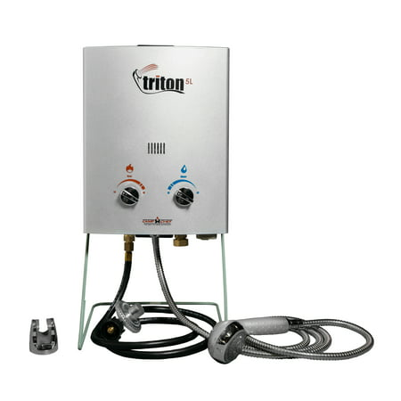 Camp Chef Triton 5 Liter Gas Portable Camp Water Heater with Shower Head | (Best Water Heater Element)