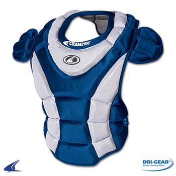 Baseball Softball Umpire Chest Protector - Softball Chest Protector- 16.5''L, Royal