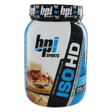 BPI Sports ISO HD protéines en poudre, beurre d'arachide Candy Bar 1,6 lb