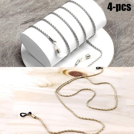 Justdolife 4Pcs Eye Glasses Chain Vintage Sunglasses Chain Eyeglasses Strap Eyewear Holder Cords Chain Lanyard Necklace