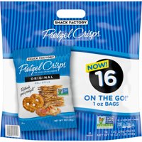 Snack Factory Pretzel Crisps Original Flavor, Snack Packs Individual Sized 1 Oz, 16 Ct