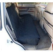 """Formosa Covers Deluxe Quilted and Padded Back Seat Bench cover - One size fits all 56""""W Black"""