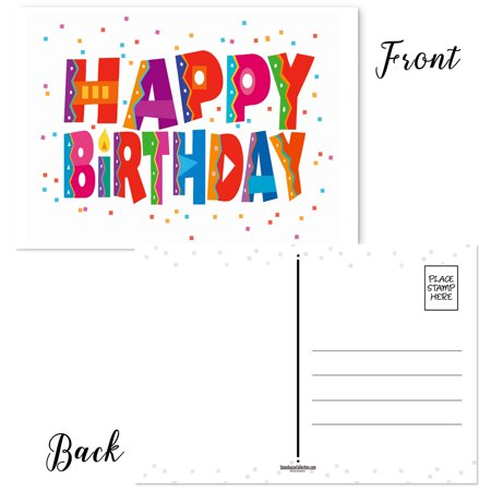 Happy Birthday Postcards - Set of 50 Birthday cards - 4 x 6 inch postcards](Happy Halloween Postcards)