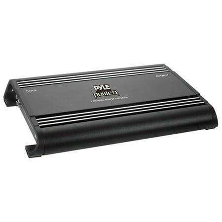 - Pyle Super Power PLA2678 Car Amplifier - 4000 W PMPO - 2 Channel - Class D - Bridgeable - 47 Kilo Ohm - 90 dB SNR - MOSFET Power Supply - 2 x 2 kW @ 4 Ohm - 4 kW Bridged Power @ 4 Ohm
