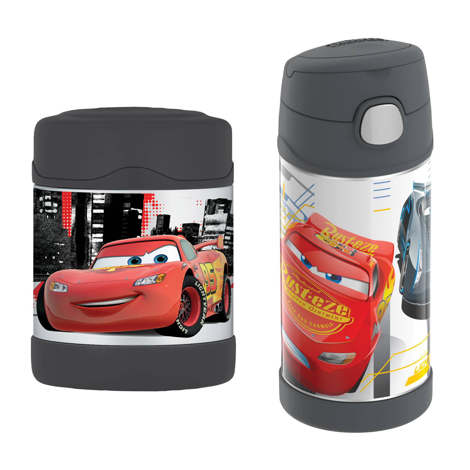 Thermos FUNtainer 12-Ounce Bottle, Disney Cars & Thermos FUNtainer 10-Ounce Food Jar, Disney Cars