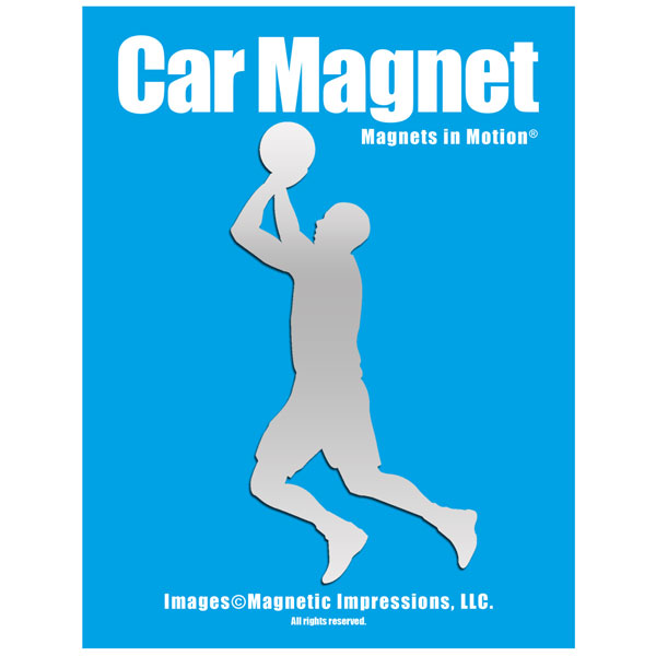 Basketball Player Men's Car Magnet Chrome