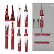 Zeus 8Pcs/Set Handle Protective Cover,Christmas Theme,for Microwave Oven/Fridge/Cupboard/Door