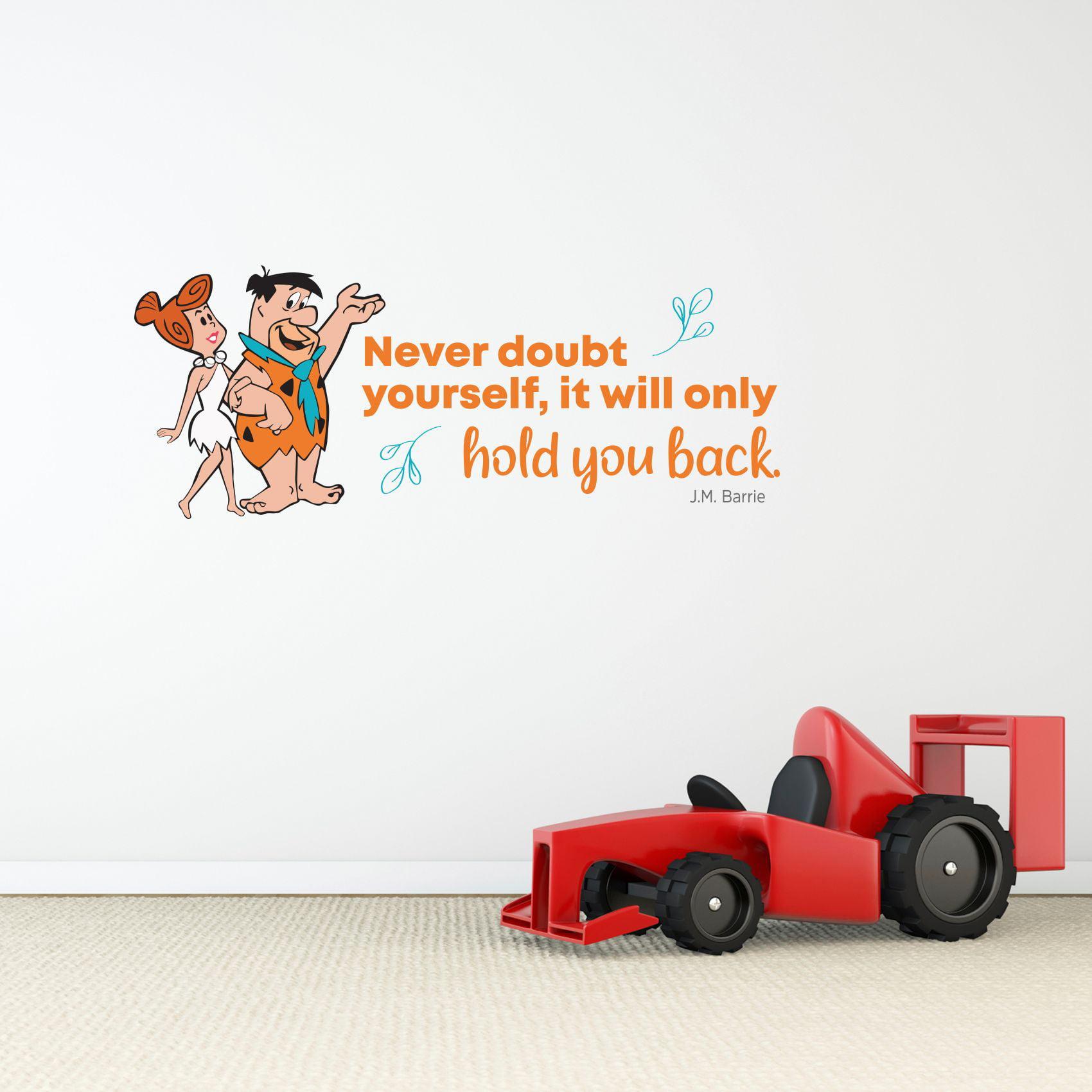Never Doubt Flintstones Life Quote Cartoon Quotes Decors Wall Sticker Art Design Decal For Girls Boys Kids Room Bedroom Nursery Kindergarten Home Decor Stickers Wall Art Vinyl Decoration 15x30 Inch Walmart Com