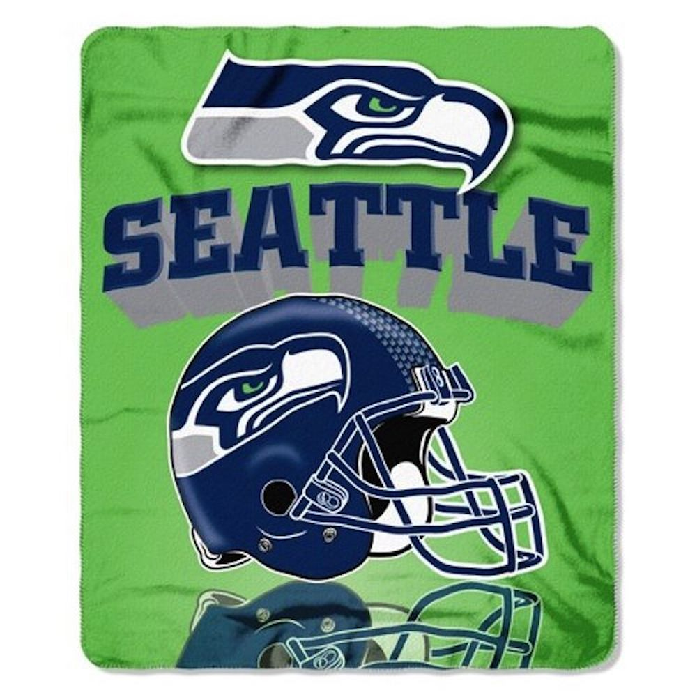 Northwest Seattle Seahawks Gridiron Fleece Throw