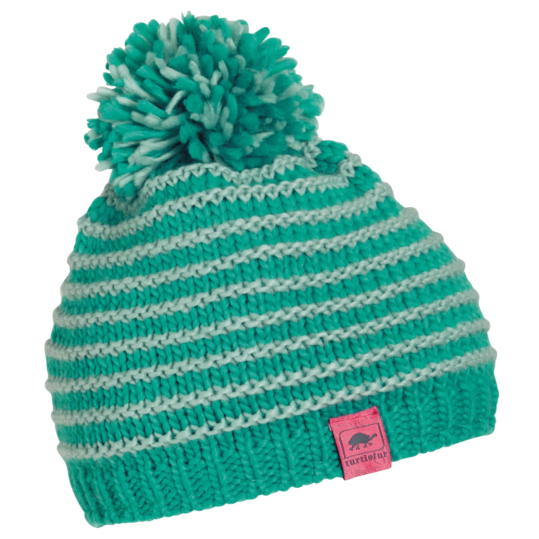 Turtle Fur Marcy Girl's Fleece Lined Oversized Pom Hand Knit Winter Hat by Turtle Fur