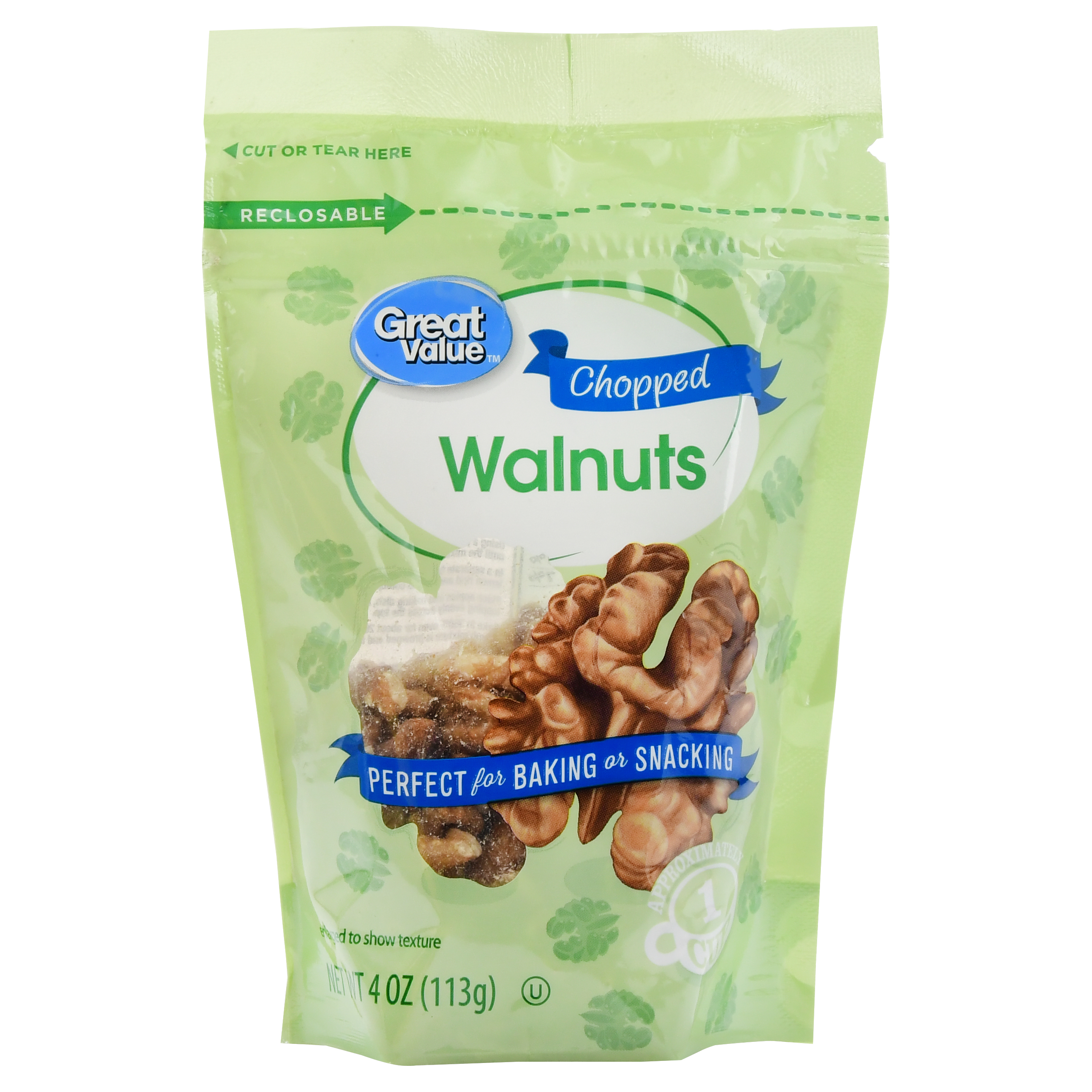 Great Value Chopped Walnuts, 4 oz