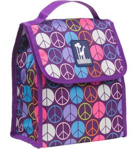 Peace Signs Purple Munch 'n Lunch Bag