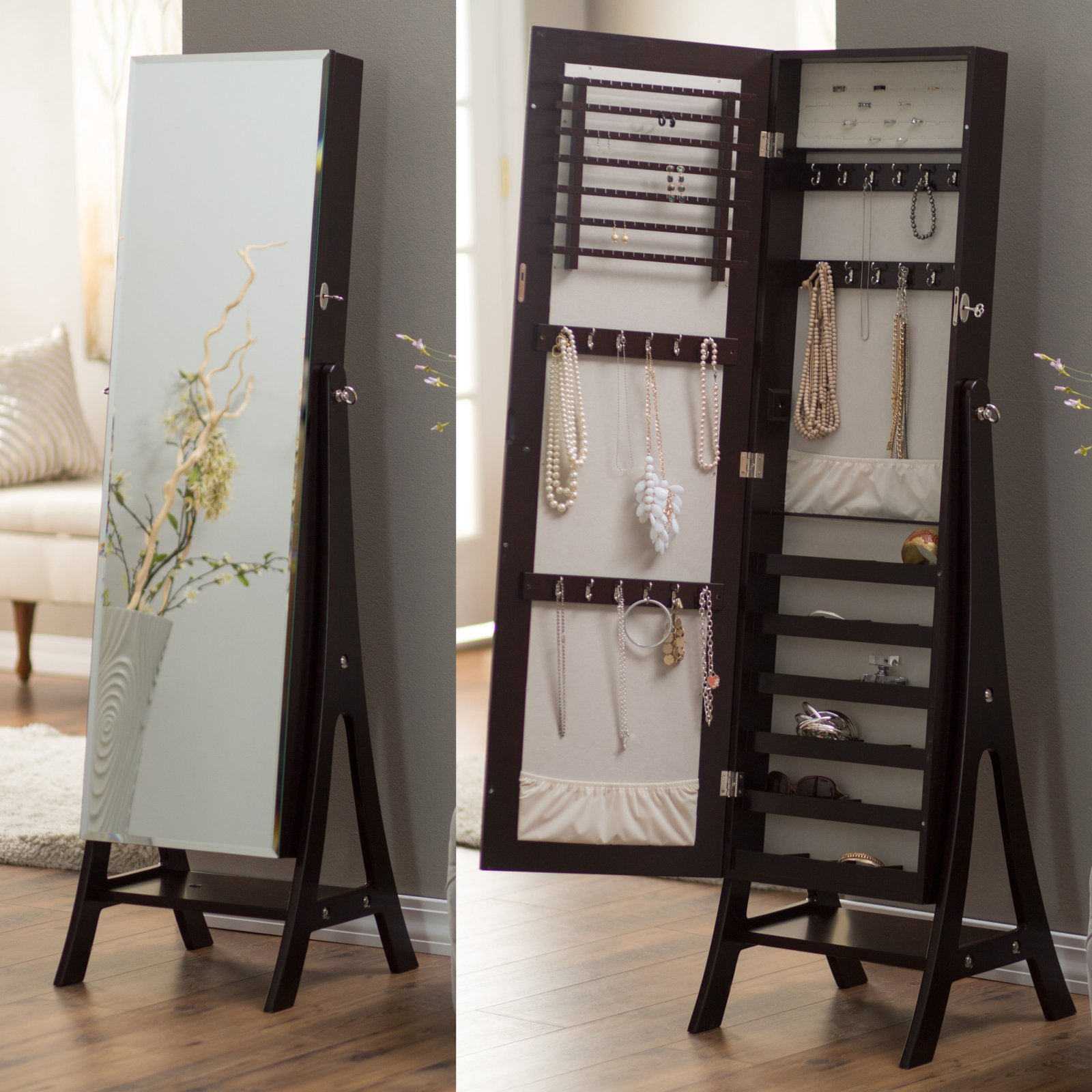 JEWELRY ARMOIRE SALE: Save up to 50% off Cheval and Freestanding Jewelry Armoires