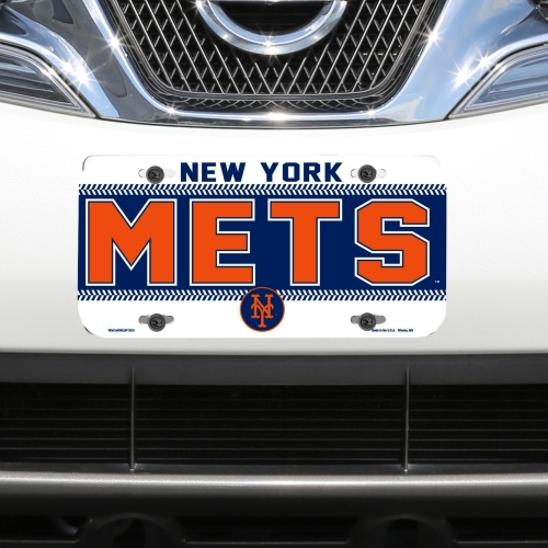 New York Mets WinCraft Logo Plastic License Plate - No Size