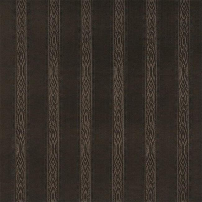 Designer Fabrics G348 54 in. Wide Chocolate Brown, Metallic Striped Wood Upholstery Faux Leather