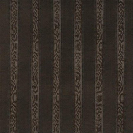 54 in. Wide Chocolate Brown, Metallic Striped Wood Upholstery Faux