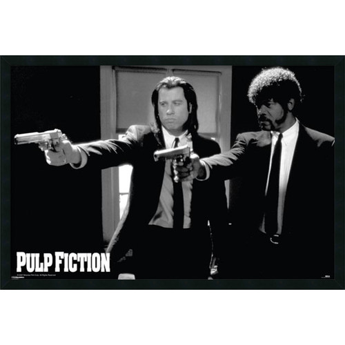 Amanti Art Pulp Fiction - Duo Guns by Anonymous Framed Photographic Print