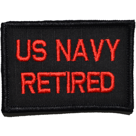 US Navy Retired - 2x3 Patch
