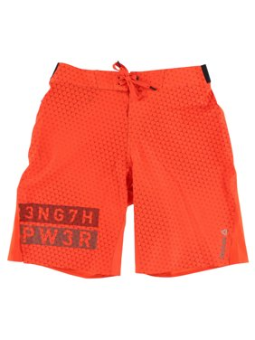 Reebok Mens One Series Print Board Shorts Orange XXL