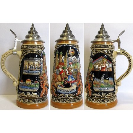 Munich Landmarks LE German Beer Stein .5 L Oktoberfest Bavaria Germany ONE Mug