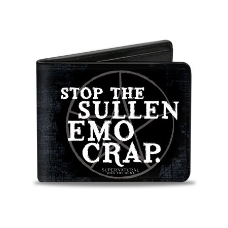 Supernatural TV Show Stop The Sullen Emo Crap Bi-Fold Wallet