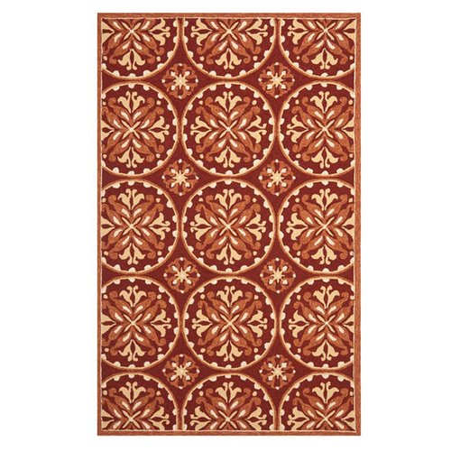 Safavieh Four Seasons Red/Orange Outdoor Area Rug