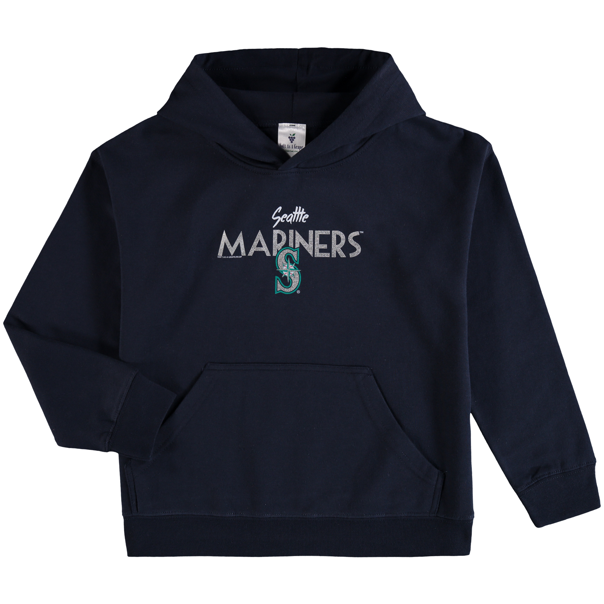 Seattle Mariners Soft as a Grape Youth Around the Horn Hoodie - Navy