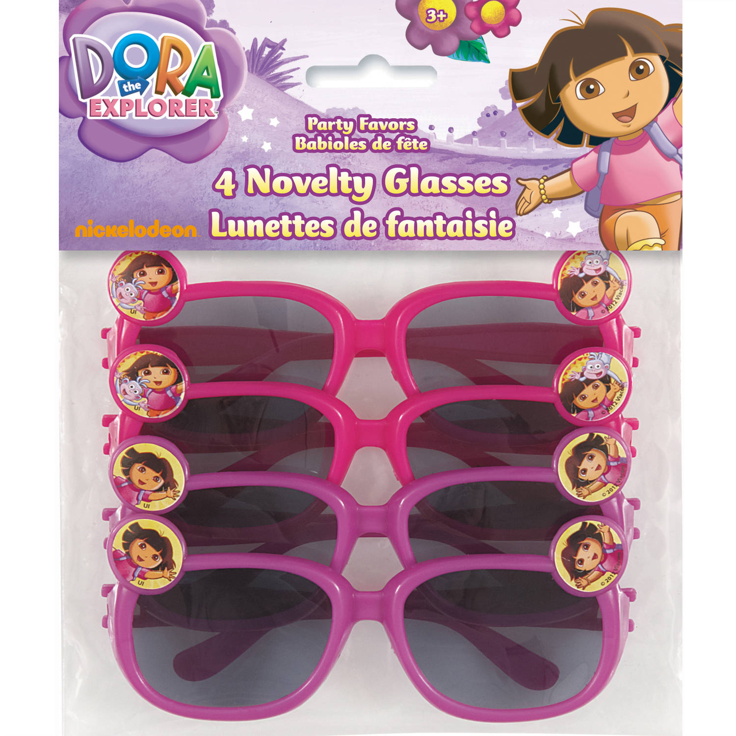 Dora the Explorer Novelty Glasses, 4-Count
