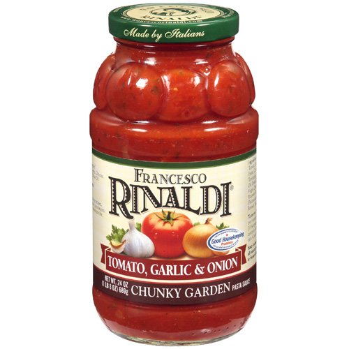 Francesco Rinaldi Tomato, Garlic, And Onion Chunky Garden Pasta Sauce, 24 oz