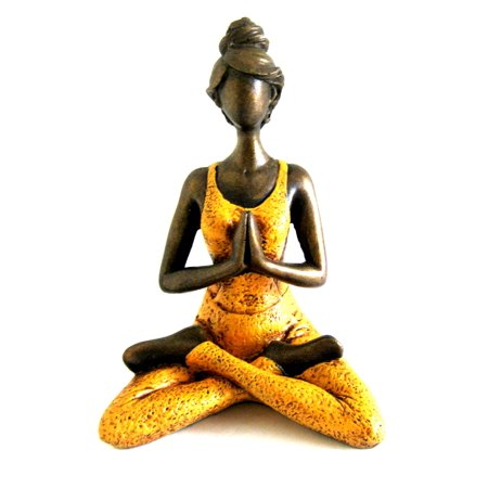 Abstract Bronze Sculpture - Yoga Statue Meditation Sculpture Bali Art Abstract Bronze Finish Yoga Lady, 10