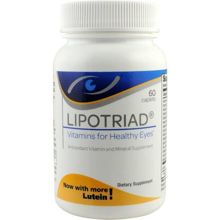 Eye Multivitamin (Lipotriad Original Eye Vitamin & Mineral Supplement- Antioxidant Multivitamin with 16 Key Ingredients for Healthy Eyes & Overall Wellness- 60 ct )