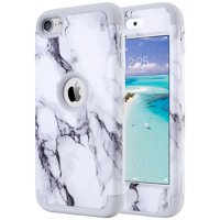 iPod Touch 7 Case, iPod 6 Touch Cover, iPod 5 Case, ULAK Heavy Duty High Impact Knox Armor Case Cover Protective Case for Apple iPod Touch 5th/6th/7th Generation (2019), Marble