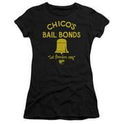 Bad News Bears Chico's Bail Bonds Juniors Short Sleeve Shirt