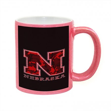 KuzmarK Pink Sparkle Coffee Cup Mug 11 Ounce - Nebraska Red Camouflage