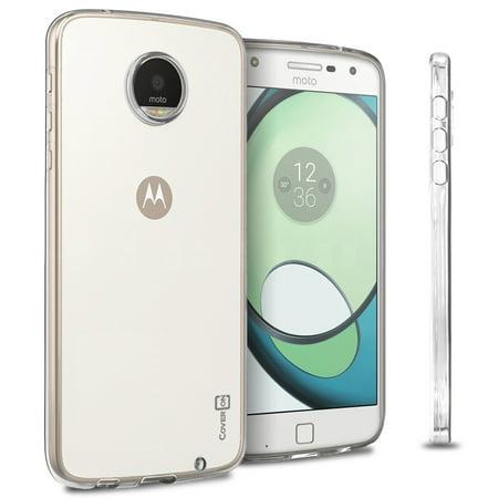 CoverON Motorola Moto Z Play Droid Case, FlexGuard Series Soft Flexible Slim Fit TPU Phone
