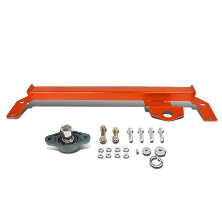 Dodge Ram Steering Box (For 03-08 Dodge Ram 2500 3500 4WD / AWD Mild Steel Steering Gear Box Stabilizer Brace / Bar (Red) -Type)