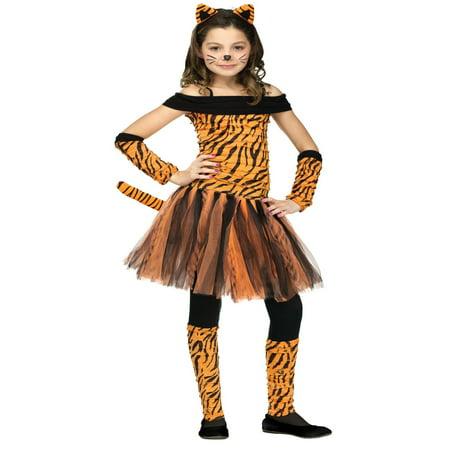 Girls Halloween Costume : Tigress Tiger Costume 12-14