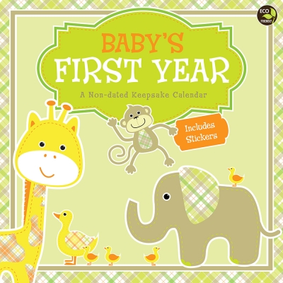Babys First Year Plaid NonDated Wall Calendar TFB151100