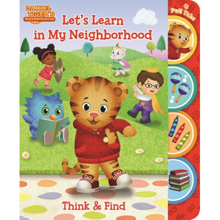 Daniel Tiger Let's Learn in My Neighborhood: Think and Find Pull Tab Board Book (Board Book) - Daniel Tiger Coloring Pages