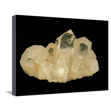Quartz Crystals, Hot Springs, Arkansas, USA, Specimen Courtesy Jmu Mineral Museum Stretched Canvas Print Wall Art By Scientifica (Arkansas Quartz Crystal)