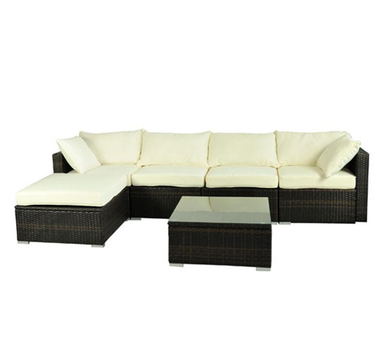 Raleigh 4 piece outdoor wicker sofa set for Belmont 4 piece brown wicker patio chaise lounge set